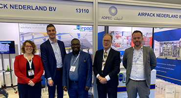 Fairtex MD Visits Airpack Top Managment At Adipec Exhibition In Abu Dhabi