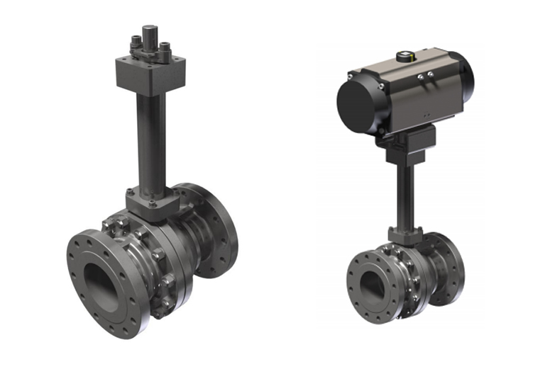 Valves, Actuators & Flow Measuring Devices_<br />Cryogenic Ball Valve