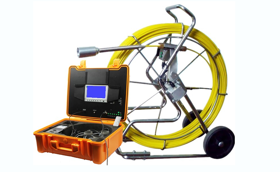 Pipe inspection camera with 7' TFT LCD, 120m cable, 35mm camera lens, IP68 waterproof standard