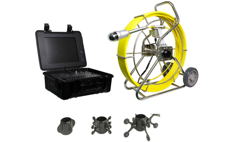 Pipelines inspection camera with 58mm pan/tilt camera, 60M testing cable